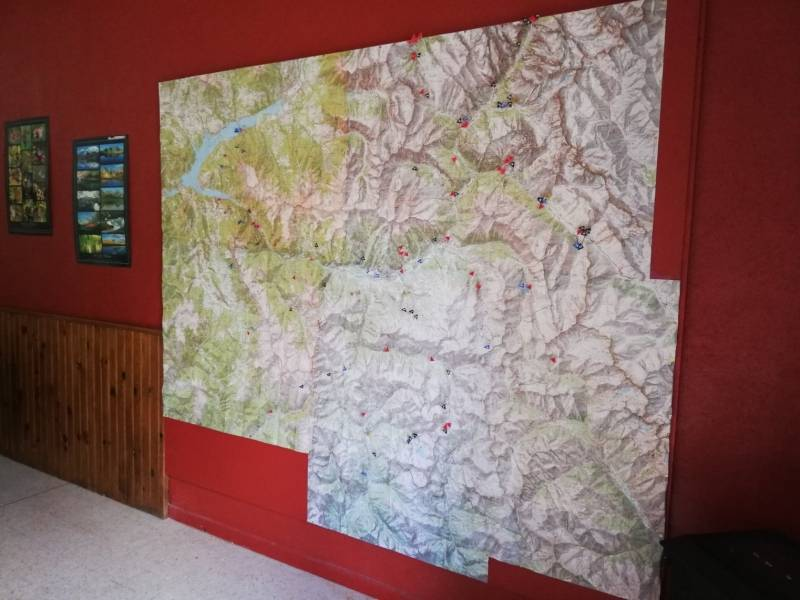 Ubaye Mercantour hiking map