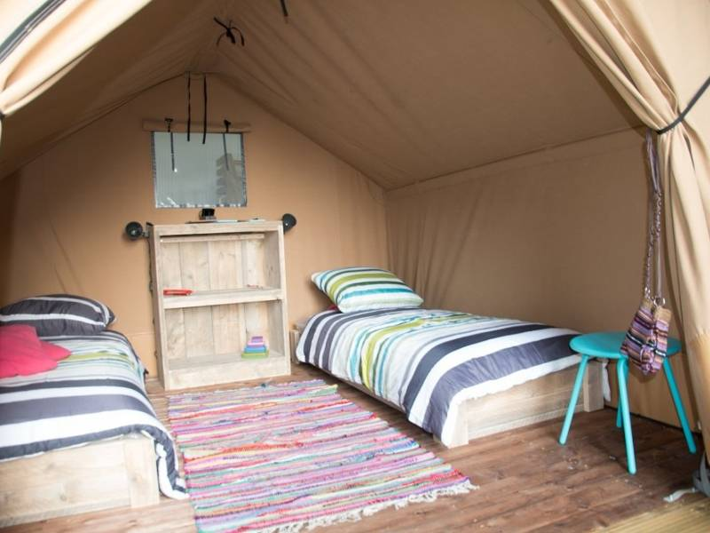 Equipped couple lodge tent