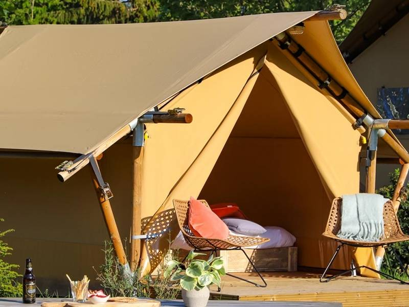 Mini tente lodge woody camping glamping